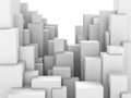 Abstract city of white blocks Stock Photo