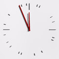 Abstract clock over the white Royalty Free Stock Image