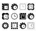 Abstract clock symbols Stock Photo