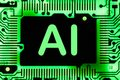 Abstract,close up of Mainboard Electronic computer background. artificial intelligence, ai