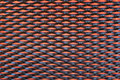 Abstract close up of modern interior architectural metal wall Royalty Free Stock Photo
