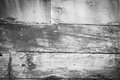 Abstract closeup of old abandoned ships hull planking timber remains in monochrome with slight vignette veteran flat bottomed scow Royalty Free Stock Image