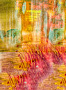 Abstract on cloth image of a mixed media original painting Royalty Free Stock Images