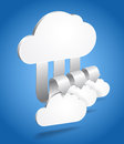 Abstract cloud scheme Stock Photo