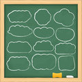 Abstract clouds on blackboard Stock Photography