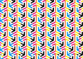 Abstract CMYK Arrows Pattern B...
