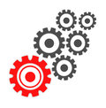 Abstract cogs - gears over white background Royalty Free Stock Photo