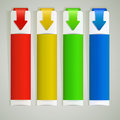 Abstract color arrow web banners template Royalty Free Stock Photography