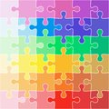 Abstract color Background icon Illustration jigsaw puzzle Royalty Free Stock Photo