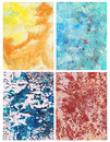 Abstract color backgrounds set of handmade Royalty Free Stock Image