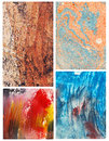 Abstract color backgrounds set of handmade Stock Photography
