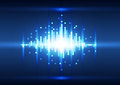Abstract color blue  pixel background, Vector Royalty Free Stock Photo