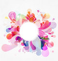 Abstract Color Burst Stock Photo