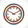 Abstract color clock stock Royalty Free Stock Photo