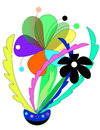 Abstract color flower this is simple funny design vector illustration Stock Image