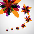Abstract color flowers background Stock Photos