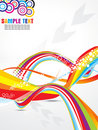 Abstract color ful rainbow wave background Stock Images