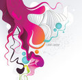 Abstract color ink shape  Royalty Free Stock Photography