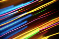 Abstract color light streaks Stock Photo