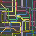 Abstract color metro scheme Royalty Free Stock Images