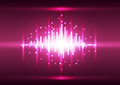 Abstract color pink pixel background vector illustration innovation technology Stock Image