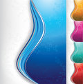 Abstract color ribbons background Stock Photos