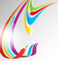 Abstract color ribbons background Stock Image