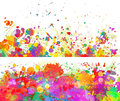 Abstract color splash background and banner set Royalty Free Stock Photo