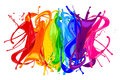 Abstract color splash rainbow Royalty Free Stock Photo