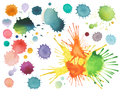 Abstract color watercolor blot Royalty Free Stock Photo