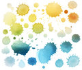 Abstract color watercolor blot isolated Royalty Free Stock Photo
