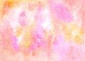 Abstract colored backdrop.  Handiwork  texture in yellow pink re Royalty Free Stock Photo