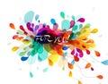 Abstraktní barevný listy