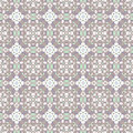 Abstract colored flowers seamless pattern vector illustration Royalty Free Stock Photo