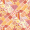 Abstract colored seamless pattern