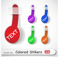 The abstract colored sticker set Royalty Free Stock Photo