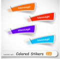 The abstract colored sticker set Stock Photo