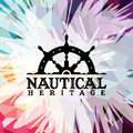 Abstract colorful anchor navy nautical theme