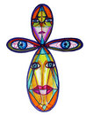 Abstract Colorful Ankh Royalty Free Stock Images