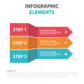 Abstract colorful arrow label business Infographics elements, presentation template flat design vector illustration for web design Royalty Free Stock Photo
