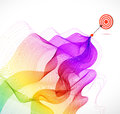 Abstract colorful background with arrow wave and hitting a target Royalty Free Stock Photos