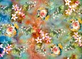 Abstract colorful background with beautiful flower
