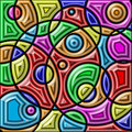 Abstract colorful background. Geometric shapes. Royalty Free Stock Photo