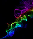 Abstract colorful background made with real smoke Stock Images