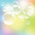 Abstract colorful background with transparent glass balls. Royalty Free Stock Photo