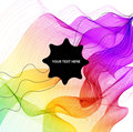 Abstract colorful background with wave and black label for text Royalty Free Stock Photography