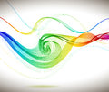 Abstract colorful background with wave illustration Royalty Free Stock Photos
