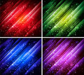 Abstract colorful backgrounds collection Stock Photos