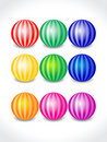 Abstract colorful balls set Stock Photos