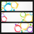 Abstract colorful banners set Stock Photography